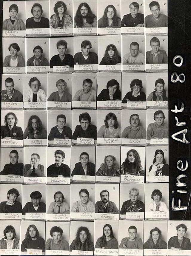 Leeds Polytechnic Fine Art student contact sheet