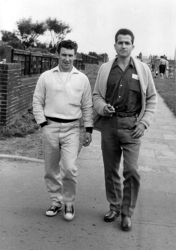 Roy Fillingham and Manuel Garcia at Derbyshire Miners Holiday Camp, Winthorpe, Skegness