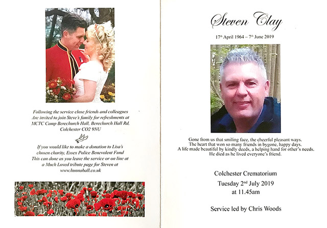 Steven Clay Order of service